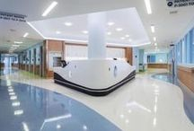 Hospitality: Healthcare / Large spaces for gathering and sharing ideas. These are the institutions that we all visit on a regular basis...with an added touch of design.