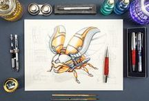 Drawing and painting tutorials.