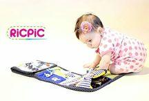 Fabric book / Ric Pic Handmade by Karolína ®