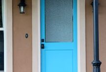 Pretty Doors! / Pretty Colored Painted Doors!  / by Annie Hyver