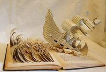 Art from Books / Altered, sculpted, carved and transformed books.