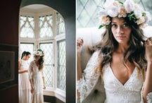 Wedding dress / Boho-chic, romantic lace wedding dresses