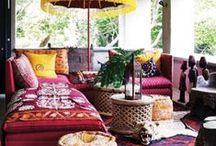 Bútoros.com - Bohém otthonok / Ha szereted a színeket, a mozgalmasságot, az eklektikát és a mintákat, ez a board Neked lett kitalálva.