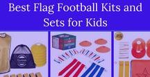 Best Flag Football Kits and Sets for Kids / Youth flag football is a popular variation of American tackle football for kids and is similar to touch football. Since the sport can be played by anywhere from 4v4 to 9on9 players to a side, kids flag football sets can range widely in the number of players they are geared to accommodate, it is important when choosing equipment to pay attention to this factor. The goal of this article is to inform about the best flag football kits and sets for kids that are available.