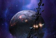Sci fi Influencias / Influencias de otros ilustradores para la novela/juego.  Influencer authors for our novel/game.