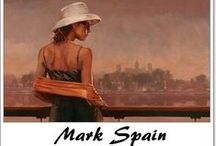 ⊱ Mark Spain ⊰  / ≻  Mark Spain ~ British Figurative painter, 1962 ≺ Mark Spain studied Fine Art at Medway College of Art. He subsequently became a Freelance Illustrator producing originals for posters, book covers and cards