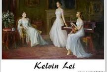 ⊱ Kelvin Lei ⊰ /  ≻ Kelvin Lei ~ Guangzhou, China, 1954 ≺    Studying at the renowned Guangzhou Academy of Fine arts, he trained under Yang Zhi Guang, an important figure in Chinese art, as well as Ou Yang, a prestigious oil painter. From their teachings, Kelvin learned the foundation and techniques of portraiture, figure drawing, and oil painting.