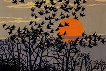 ART: Woodcuts, linocuts, wood engravings, etchings & misc prints / by Nell Tee