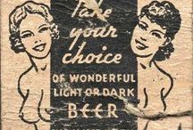 Beer Advertising Match Books Vintage / Vintage Beer Company and Brewers  #Advertising#match covers 1920's through the 1960's.