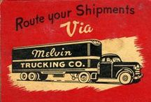 TRUCKING & MOVING ADVERTISING MATCHES / Long and short haul Trucking and Moving Company Advertising matches