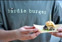 Birdie Burger / An idea we had that branches off our company Culinary Concerts... pairing gourmet finger food with one of America's favorite pastimes: bird watching.