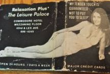 """Strip Clubs, Massage Parlors & Houses of ILL REPUTE #Matches / Vintage Advertising matches featuring strip clubs, massage parlors and """"Houses of Ill Repute"""""""