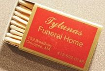 Funeral Homes Match Books & Match Boxes / Funeral Homes Advertising Matchbooks and Match boxes