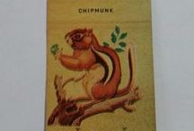 Animal Themed Matchbooks / Stock Cut matches with animal illustrations and hunting themes