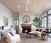 """Accent Ceilings / Adding depth of color without overwhelming a room by painting the """"5th wall""""."""