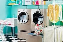 Laundry Rooms / Colorful laundry rooms.
