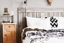 Masculine Bedroom / Bedrooms for those that like rugged, rustic and spartan style.