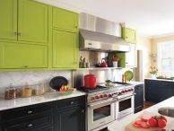 Colorful Cabinets / Painting cabinets is much more cost effective than replacing them!