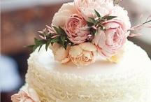 Flower Covered Wedding Cakes