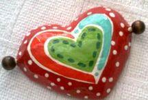 Papel Mache corazones