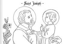 + Coloring Pages + / Free coloring pages featuring saints, Bible scenes, and more!