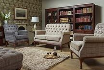 Burnham Upholstery / Small scale upholstery design with beautiful button back detailing