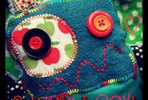Doudous Lutins du Monde / colorful and eco-friendly monster plushies and accessories handmade from recycled materials, doudous monstres et accessoires écolos colorés fabriqués à la main à partir de matériaux de recyclés