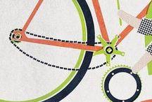 Affiches vintage |  Vintage Poster / Retro Illustration, dessin vélo, bike, bicycles par #Freemoos