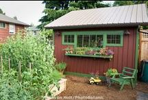 Garden Sheds / Sheds of all shapes and sizes for the garden. #gardening #sheds #gardensheds / by Green Bean