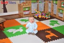 SoftTiles Foam Play Mats Playroom Ideas / Fun Playrooms using SoftTiles Interlocking Floor Mats. Use these ideas as the basis for your own playroom floor. SoftTiles play mats provide a soft and safe floor for your kids to play on.