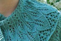 Knits: shawls, scarfs, etc