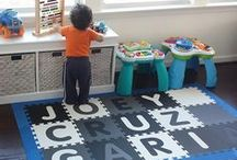 Custom Name SoftTiles Playroom Foam Mats / Fun Playrooms that are personalized with SoftTiles Foam Play Mats