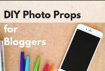 DIY Photography Props / Tutorials and resources for DIY photography props for bloggers and creatives on a budget.