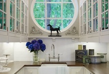 Butler Pantry / The Butler Pantry: A perfect place to add a dumbwaiter from your carport or garage up to the kitchen, or from the kitchen to the patio or deck.