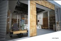 """Shop for decoration by Illusions Lab / """"Where wood meets metal"""" is a project in Iindustrial style . In 68 sq we have made a special design with enough space for the products. The shop is located in Mall of Sofia. What we have made are the 3D visualisations. www.illusionslab.com"""