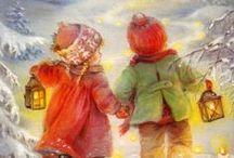 Lisi Martin and other cards / Joulukortteja ja -kuvia, muita kortteja ja eri taiteilijoiden piirustuksia