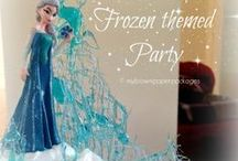 Frozen Party Ideas / Ideas for hosting your own Disney Frozen themed birthday party for kids including games, decorations and cakes