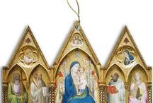 Catholic Christmas Ornaments / Stunning, beautiful Catholic porcelain and wood ornaments for the Christmas season!