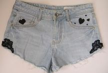 MY DIY SHORTS  & JEANS - my work / https://www.facebook.com/HandmadeByZuzuPredaj