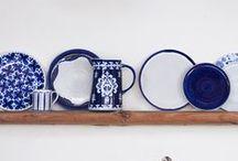 Blue Market Kitchen / Blue Market Kitchen with Tunisia Prints