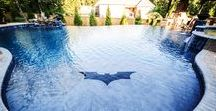 Batman Pool - Elite Pools by Aloha / I mean, who doesn't want a Batman themed pool?! We had an absolute blast working on this project.
