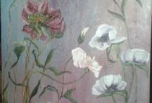 My flowers oil paintings