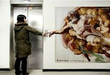 Elevator Art & Ads / Awsome art finds on elevators.
