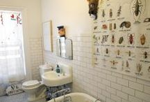 Kid Friendly Bathrooms / Bathroom inspiration for the youngins' collected by The Happy Space Project