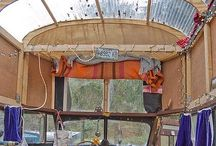 Converted buses and campers / My dream / by Tina