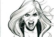 Arte finalização / Ilustrações para estudos de HQs/Comics