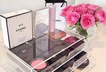Makeup and Beauty Storage Ideas / IKEA Malm Dressing Table, Makeup and Beauty Storage Ideas, Makeup Storage Inspiration, Muji Acrylic Drawers, My Dressing Table and Makeup Storage, Vanity