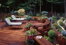 Outdoor Spaces / Ideas for all your outdoor living! Decks, patios, porches, swings, fire pits, lighting, seating and more! *Pins that are off topic will be deleted!*