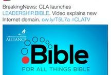 Sample Tweets / Sample tweets from ministry partners / by .BIBLE TLD Registry