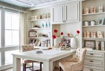 home office ideas / Working from home needs to feel relaxing, calming but have function. I am loving these home office ideas! / by Our house now a home